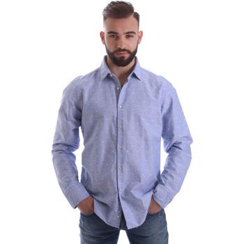 Textil Muži Košile s dlouhymi rukávy Gmf 962118/03 Modrý
