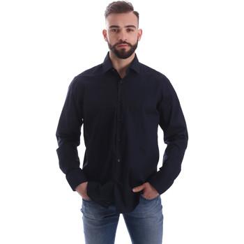 Textil Muži Košile s dlouhymi rukávy Gmf 962250/01 Modrý