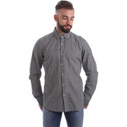 Textil Muži Košile s dlouhymi rukávy Gmf 962169/04 Černá