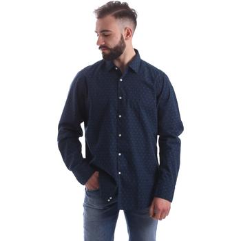Textil Muži Košile s dlouhymi rukávy Gmf 962157/06 Modrý