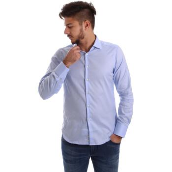 Textil Muži Košile s dlouhymi rukávy Gmf 962103/03 Modrý