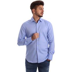 Textil Muži Košile s dlouhymi rukávy Gmf 962103/04 Modrý