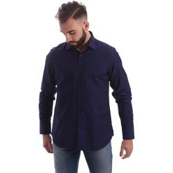 Textil Muži Košile s dlouhymi rukávy Gmf 962103/05 Modrý