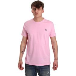 Textil Muži Trička s krátkým rukávem U.S Polo Assn. 57084 49351 Růžový