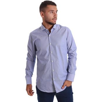 Textil Muži Košile s dlouhymi rukávy Gmf 971263/01 Modrý