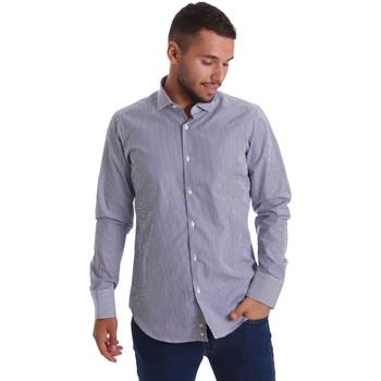 Textil Muži Košile s dlouhymi rukávy Gmf 971264/03 Modrý