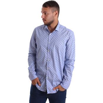 Textil Muži Košile s dlouhymi rukávy Gmf 971200/04 Modrý