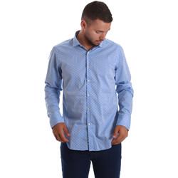 Textil Muži Košile s dlouhymi rukávy Gmf 971208/03 Modrý