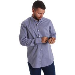 Textil Muži Košile s dlouhymi rukávy Gmf 971134/05 Modrý
