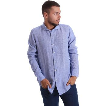 Textil Muži Košile s dlouhymi rukávy Gmf 971314/04 Modrý