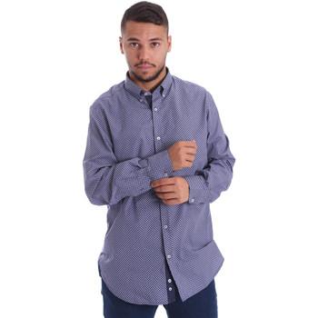 Textil Muži Košile s dlouhymi rukávy Navigare N691010BD Modrý