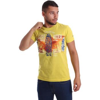Textil Muži Trička s krátkým rukávem Navigare N631017 Žlutá