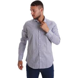 Textil Muži Košile s dlouhymi rukávy Gmf 971184/02 Modrý