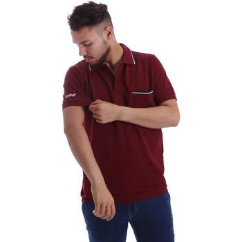 Textil Muži Polo s krátkými rukávy Key Up 2827Q 0001 Červené