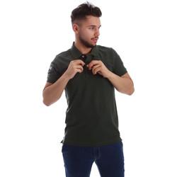 Textil Muži Polo s krátkými rukávy Key Up 255QG 0001 Zelený
