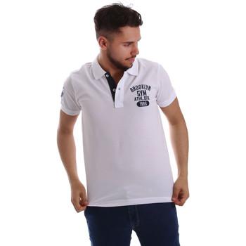 Textil Muži Polo s krátkými rukávy Key Up 255QG 0001 Bílý