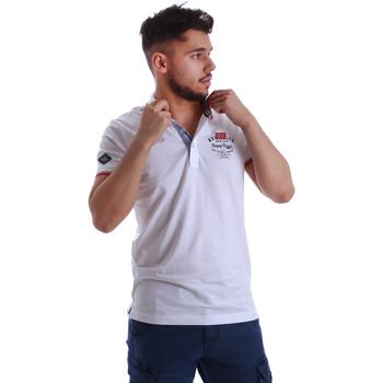 Textil Muži Polo s krátkými rukávy Key Up 262RG 0001 Bílý
