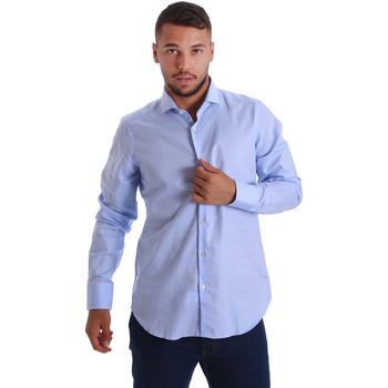 Textil Muži Košile s dlouhymi rukávy Gmf 971103/03 Modrý