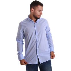 Textil Muži Košile s dlouhymi rukávy Gmf 971101/03 Modrý