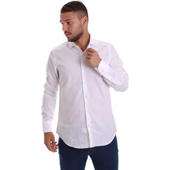 Textil Muži Košile s dlouhymi rukávy Gmf 971111/11 Bílý