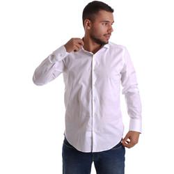 Textil Muži Košile s dlouhymi rukávy Gmf 971250/01 Bílý