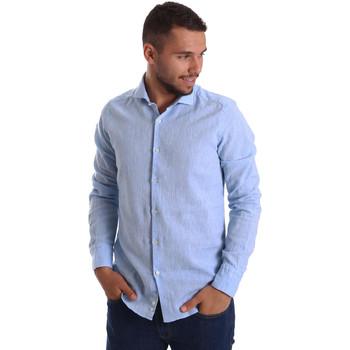 Textil Muži Košile s dlouhymi rukávy Gmf 971306/02 Modrý