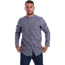 Textil Muži Košile s dlouhymi rukávy Gmf 971139/13 Modrý