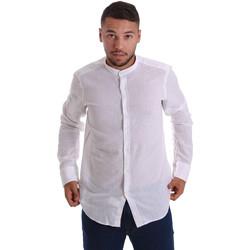 Textil Muži Košile s dlouhymi rukávy Gmf 971306/01 Bílý