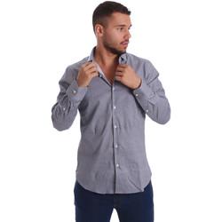 Textil Muži Košile s dlouhymi rukávy Gmf 971185/03 Černá