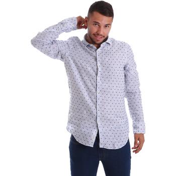 Textil Muži Košile s dlouhymi rukávy Gmf 971312/01 Modrý