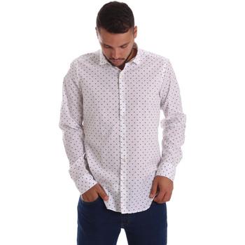 Textil Muži Košile s dlouhymi rukávy Gmf 971200/01 Bílý