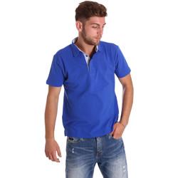 Textil Muži Polo s krátkými rukávy Bradano 000116 Modrý