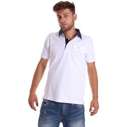 Textil Muži Polo s krátkými rukávy Bradano 000115 Bílý