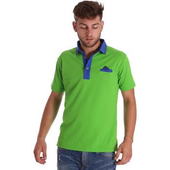 Textil Muži Polo s krátkými rukávy Bradano 000114 Zelený