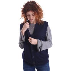Textil Ženy Svetry / Svetry se zapínáním Wool&co WO0004 Modrý