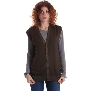 Textil Ženy Svetry / Svetry se zapínáním Wool&co WO0004 Zelený