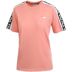 Textil Ženy Trička s krátkým rukávem Fila 687686 Růžový