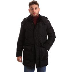 Textil Muži Prošívané bundy Geox M84P8B T2422 Černá