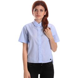 Textil Ženy Košile / Halenky Fornarina SE174567CA1218 Modrý
