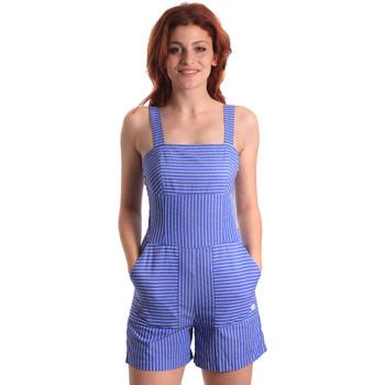 Textil Ženy Overaly / Kalhoty s laclem Fornarina SE178D80CA1411 Modrý