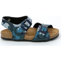Boty Děti Sandály Grunland SB0911 Modrý