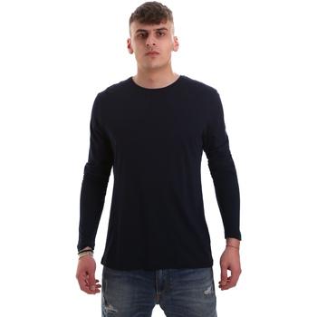 Textil Muži Trička s dlouhými rukávy Antony Morato MMKL00264 FA100066 Modrý
