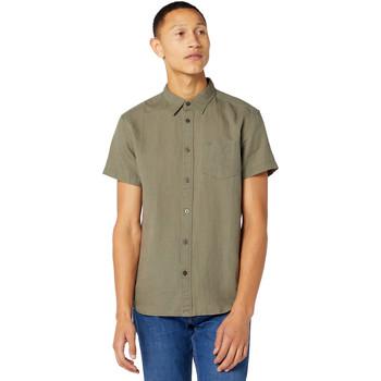 Textil Muži Košile s krátkými rukávy Wrangler W5J1LOX45 Zelený