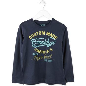 Textil Chlapecké Trička s dlouhými rukávy Losan 713 1202AA Modrý