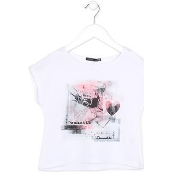 Textil Dívčí Trička s krátkým rukávem Losan 714 1014AB Bílý