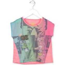 Textil Dívčí Trička s krátkým rukávem Losan 714 1017AB Růžový