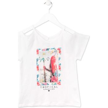 Textil Dívčí Trička s krátkým rukávem Losan 714 1026AB Bílý