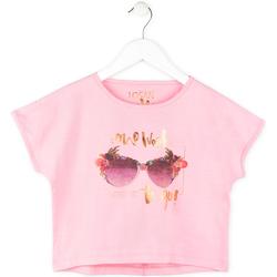 Textil Dívčí Trička s krátkým rukávem Losan 714 1200AB Růžový