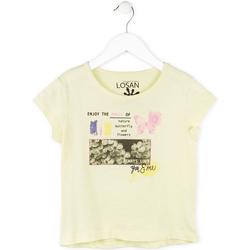 Textil Dívčí Trička s krátkým rukávem Losan 714 1208AB Žlutá