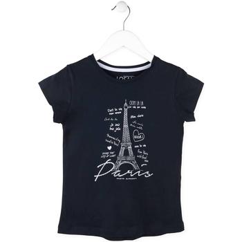 Textil Dívčí Trička s krátkým rukávem Losan 714 1210AB Modrý